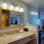 Vanity area in King room with jacuzzi