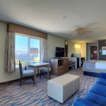 North view of king hotel room