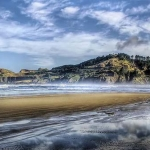 View on the beach in Newport Oregon